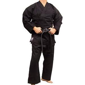 Piranha Gear Karate Uniform (Extra Heavyweight), Full sleeves, Black by Piranha Gear