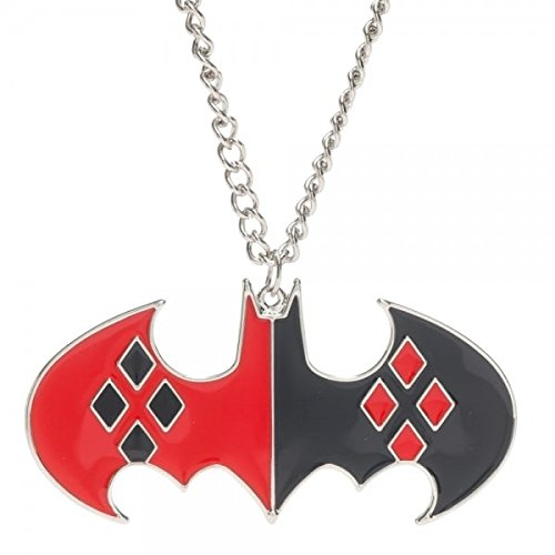 DC Comics Harley Quinn Bat Logo Collana