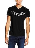Diesel Camiseta Manga Corta T-Kritil (Negro / Blanco)