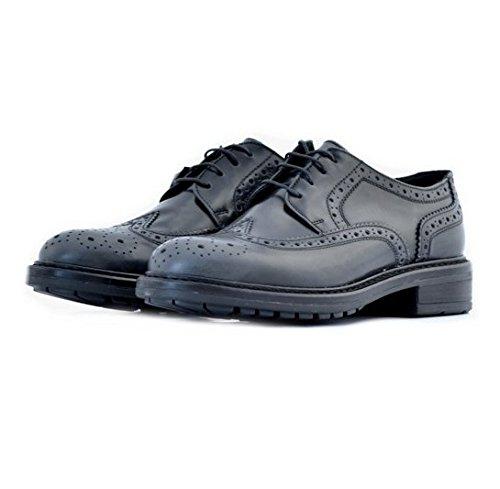Scarpe stringate Soldini donna n. 35 modello inglesina pelle grigio scuro nero 19383GRIGIOSCURO woman shoes dark gray black leather english style