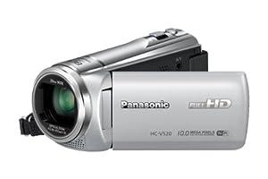 Panasonic HC-V520EG-S Camcorder (7,6 cm (3 Zoll) LCD-Display MOS-Sensor, 10 Megapixel Foto Auflösung , Full HD, 50-fach opt. Zoom, USB 2.0) silber
