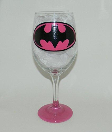Pink Batman wine glass (Batman Wine Glass compare prices)