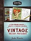 img - for Jodie Randisi: Vintage Holiday Postcards Coloring Book : For Adults and Curious Children (Paperback); 2015 Edition book / textbook / text book