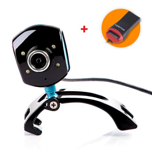 TOMTOP USB 2.0 50.0M 4 LED PC Camera HD Webcam Camera Web Cam With MIC For Computer PC Laptop