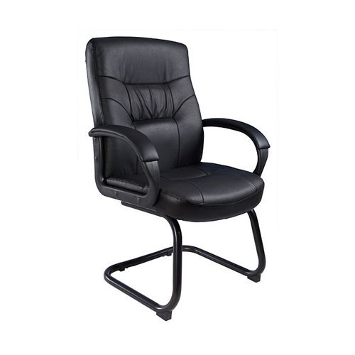 Boss Leatherplus Cantilever Sled Base Guest Chair