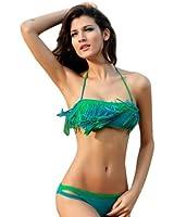 MEILISHO® Sexy Multicolore Tassels Maillot de Bain Bikini Set Push Up avec Frange Idéal pour Femme Française