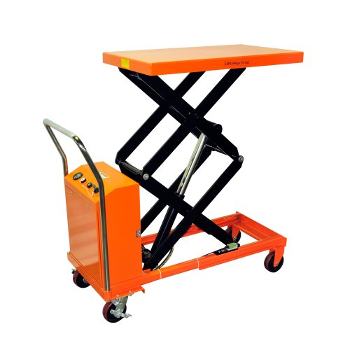 "Bolton Tools New Hydraulic Key Operated Hand Electric Double Scissor Lift Table Cart Truck - 770 Lb Of Capacity - 51.2"" Max Height - Model Etf35"