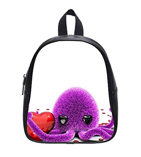 Fluffy octopus Custom Kids School Backpack Bag (Small)