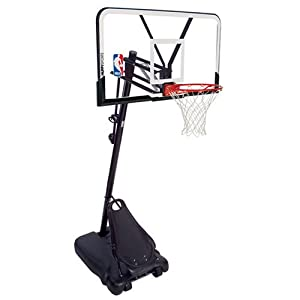 spalding 44 inch portable basketball system instructions