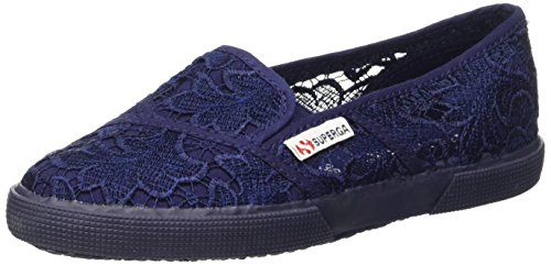 Superga 2210-Macramew, Slip-on, Donna, Blu (081 Navy), 39
