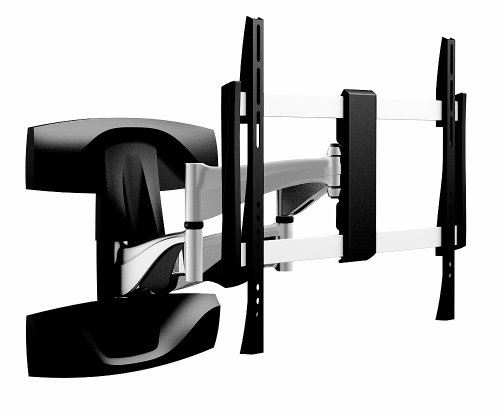OSD Audio TSM-19-464 Full Motion Universal Wall Bracket Aluminum, Low Profile Single Arm Design Fits Flat Panels for 32-Inch to 60-Inch TV, 2-Piece (Black/Silver)