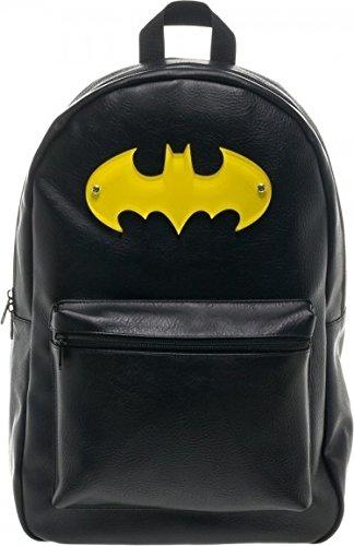 Batman Yellow Symbol Black Backpack at Gotham City Store