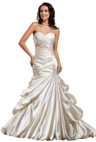 GEORGE BRIDE Luxury Mermaid/Trumpet Satin Chapel Train Wedding Dress