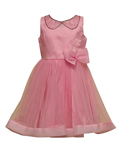 Priyank Baby Girls' Dress (1040Pink14_6-12 months)