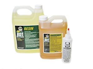 PC Products PC-Rot Terminator Two-Part Epoxy Wood Consolidant, 1.5 gal in Two Bottles, Amber