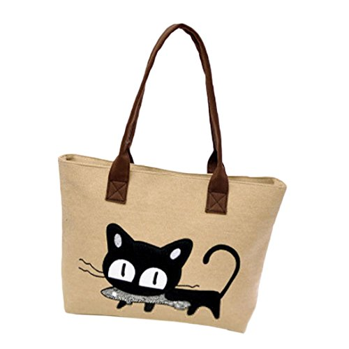 sac-a-main-feitong-mode-feminine-bandouliere-sac-de-toile-chat-mignon-sac-lunch-bag-kaki