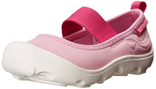 Crocs Duet Busy Day Mary Jane PS, Mädchen Durchgängies Plateau Ballerinas, Pink (Carnation/Fuchsia 6I5), 24/25 EU