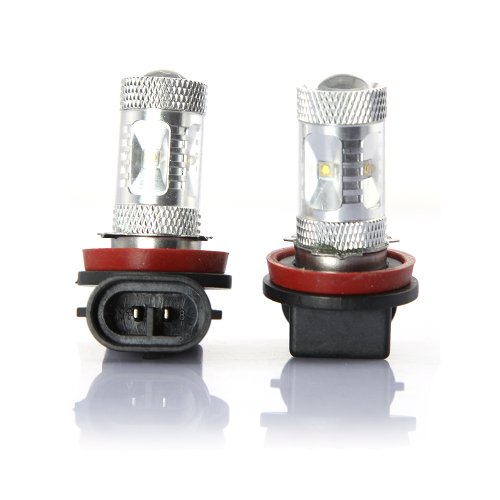 Tabstore New 2 Pieces High Luminance H8 30W Led Light Replacement For Car Fog Lamp, Support Over-Load/Short-Circuit/Over-Temperature Protection
