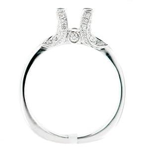 SEMI MOUNT 0.40 CARAT NATURAL DIAMOND ENGAGEMENT RING 18K WHITE GOLD