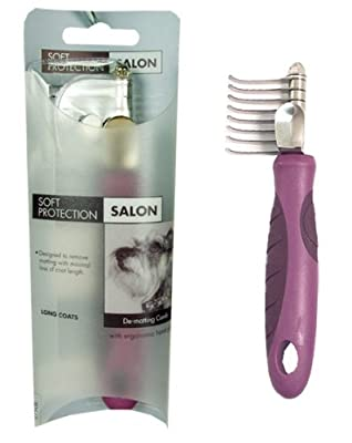 Rosewood Soft Protection Salon Grooming De-Matting Comb