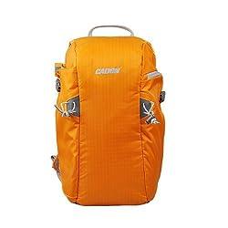 Caden E5 Backpack Bag for DSLR Camera Canon Sony Nikon, Orange Waterproof Anti Theft Front Open