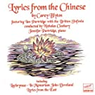 Carey Blyton: Lyrics From the Chinese