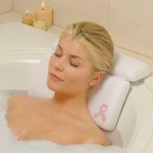 Luxury Comfort LARGE white vinyl & FOAM relaxing NECK spa BATH Pillow hot TUB