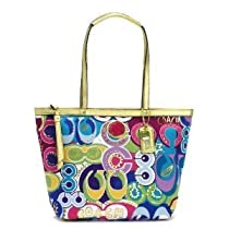 Hot Sale Coach Limited Edition Signature Poppy Doodle Bag Tote Multi