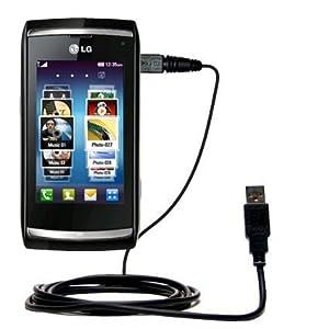 Un câble USB lisse Data HotSync pour le LG GC900 Viewty Smart avec la fonction charge
