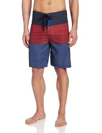 Burnside Men's Trifecta Stretch Boardshort, Red, 30