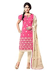 fabgruh Pink colour dress material