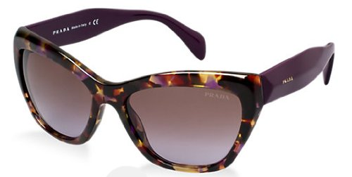 prada Prada 02QS PDN6P1 Tortoise 02QS Poeme Cats Eyes Sunglasses Lens Category 2