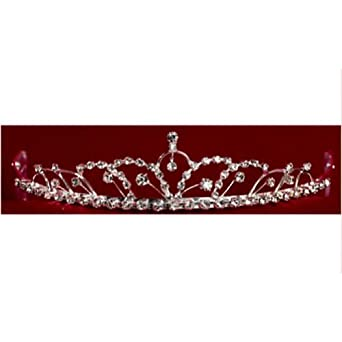 Angels Garment Girls Rhinestone Silver Quinceanera Pageant Tiara