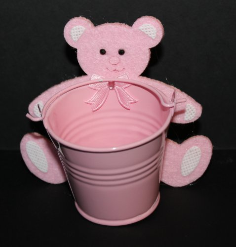Bucket Bear Keepsake - Pink Set of 6 - 1