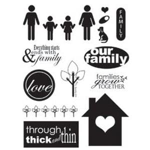 Stampology Clear Stamps Full Sheet - Family