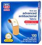 Rite Aid Advanced Antibacterial Fabric Bandages ALL ONE SIZE 100ct