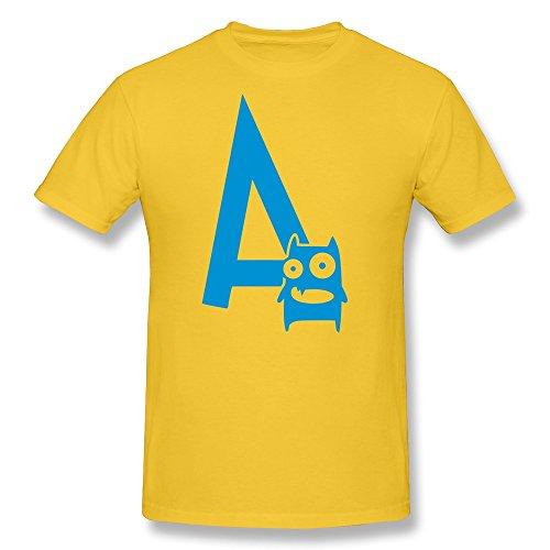 Tasy 100% Cotton Men'S Monster Mono T-Shirt - Xl Gold