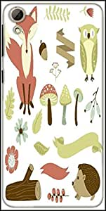 Snoogg Autumn Forest Designer Protective Back Case Cover For HTC Desire 826
