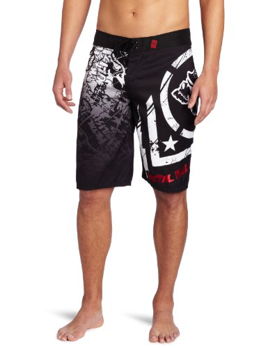 Metal Mulisha - Mens Hoist Boardshorts, Size: 32, Color: Black