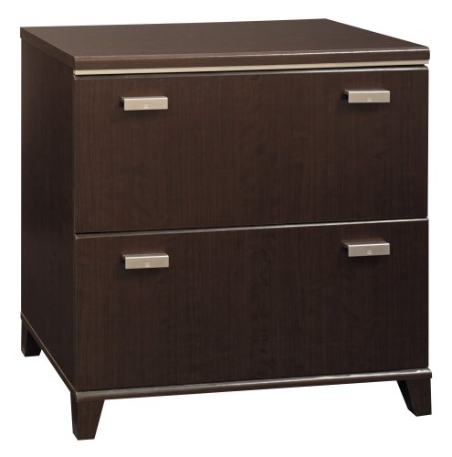 Bush Furniture Tuxedo Collection Lateral File, Mocha Cherry
