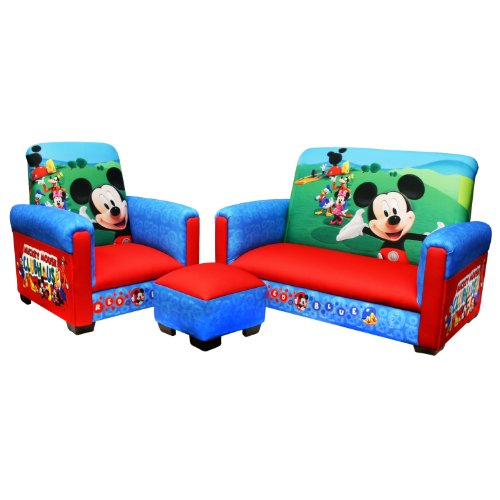 Disney Mickey Mousetoddler Sofa Chair And Ottoman Set