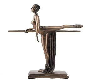 Art Deco Bronze Ballet Figurine Sculpture Ballerina Holding Barre