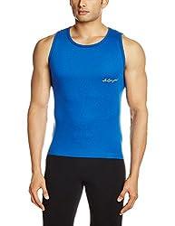 Lakomfort Men's Cotton Vest (Beric _XX-Large_R Blue)