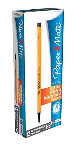 paper-3030131-mate-sharp-writer-07mm-mechanical-pencils-pack-of-12-yellow