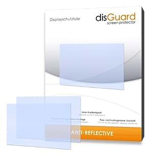 3 x disGuard Anti-Reflective Film protecteur d'écran pour Ricoh CX4 / CX-4 - Qualité supérieure (revêtement dur adhésif, antiréflexion, montage sans bulles)