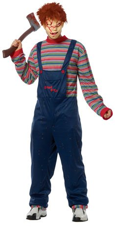 Costume Culture Men's Licensed Chucky Costume, Blue, X-Large