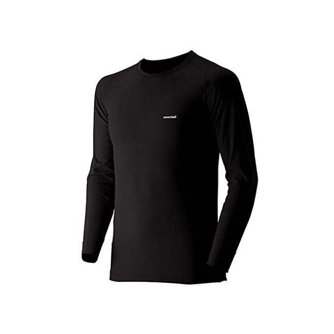 (モンベル)mont-bell ジオラインL.W.ラウンドネックシャツ Men\\\\\\\'s 1107486 BK ブラック M