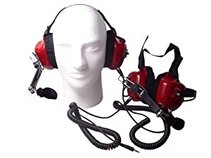 Race Day Electronics Fan Intercom System Two Way Headsets, Red by Race Day Electronics