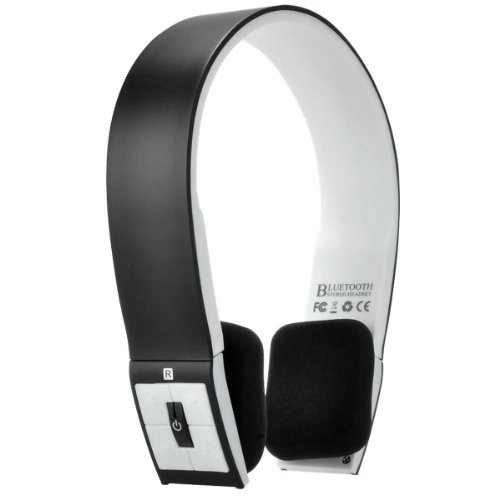 Foxnovo Bh-02 Head-Band Type Wireless Bluetooth Stereo Headphone Headset With Mic For Iphone /Ipad /Cellphone /Pc (Black)