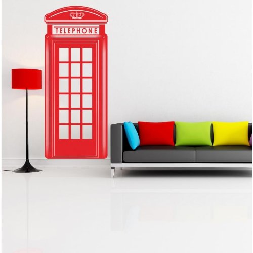 london-red-telephone-box-cabina-telefonica-inglese-wallstickers-vinyl-wall-stickers-decals